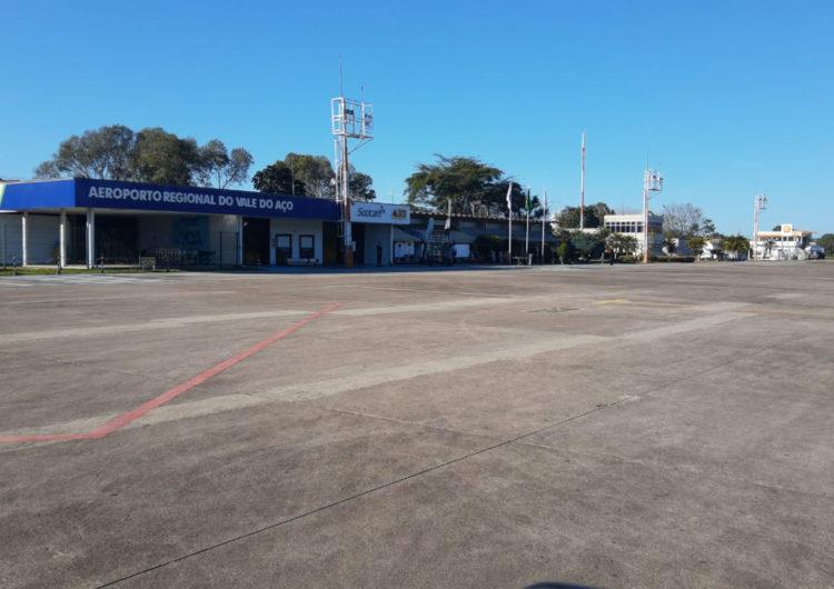 Obras para a reforma da pista do Aeroporto de Ipatinga(MG) são iniciadas
