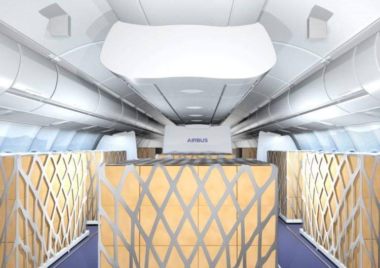 Airbus y Lufthansa Technik ofrecen soluciones temporales de carga en cabina