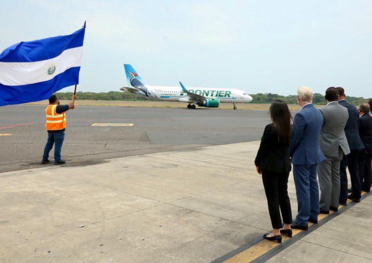 Aerolínea estadounidense Frontier conectará San Salvador con Miami