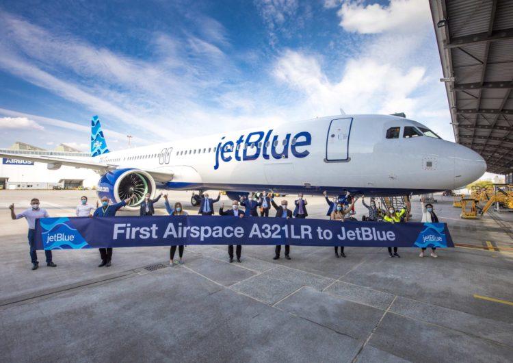 JetBlue recibe su primer A321LR con la cabina Airspace