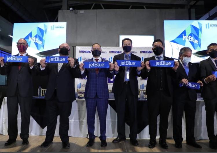 JetBlue inauguró sus vuelos entre Nueva York y Guatemala