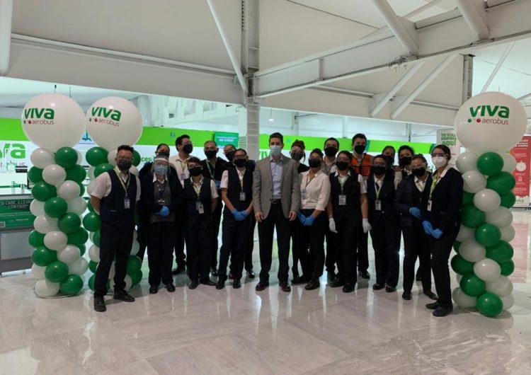 Viva Aerobus inaugura sus nuevos mostradores en la Sala F2 de la Terminal 1 del AICM