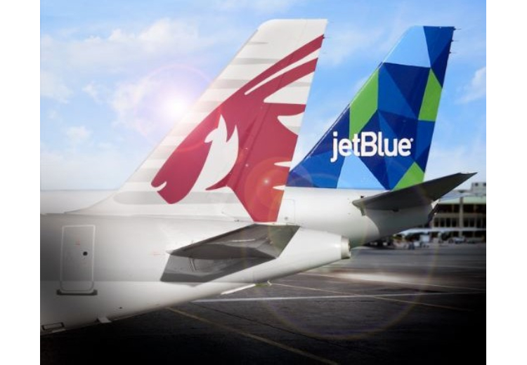 JetBlue expande su código compartido con Qatar Airways