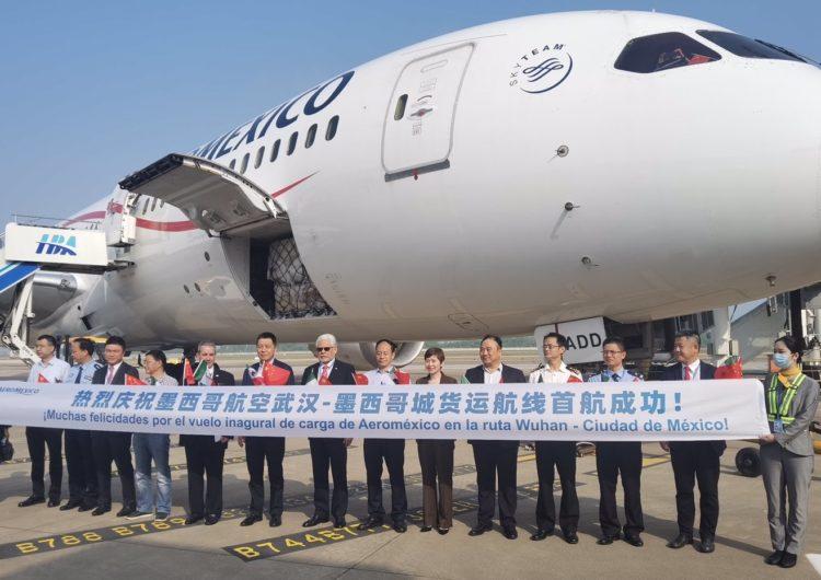 Aeroméxico inaugura ruta carguera entre México y Wuhan, China