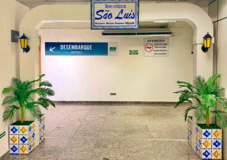 Prefeitura de São Luís instala pórtico de boas-vindas no aeroporto da capital
