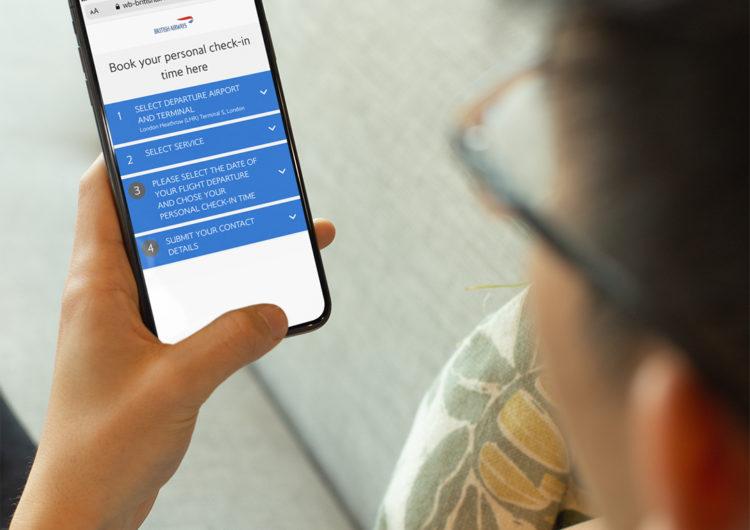 Los pasajeros de British podrán hacer colas virtuales en los check-in para evitar contagios