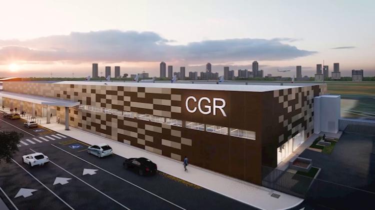 Transferência do check-in no Aeroporto Internacional de Campo Grande no próximo dia 6