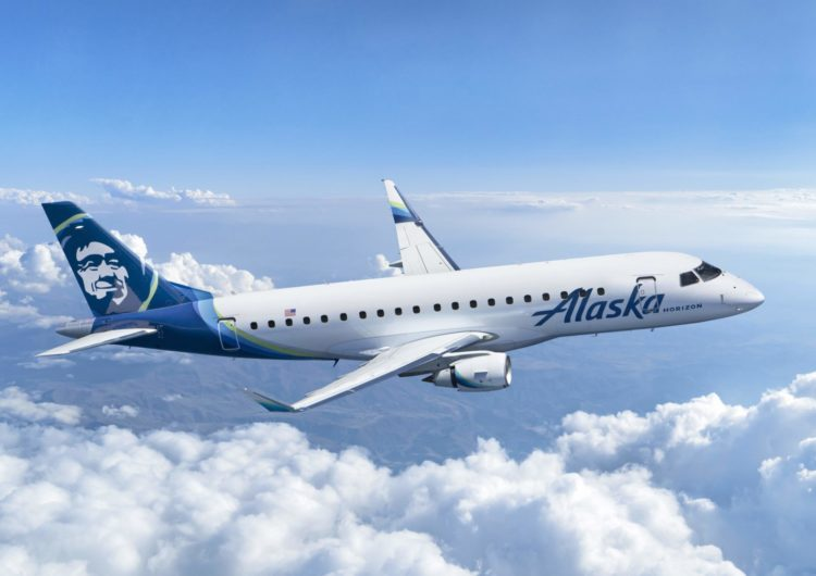 Grupo Alaska Air encomenda nove novas aeronaves E175 para a Horizon Air