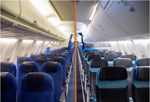 KLM renueva las cabinas de sus Boeing 737-800
