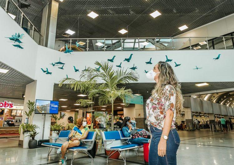 Instalação no Salvador Bahia Airport celebra Mês do Meio Ambiente