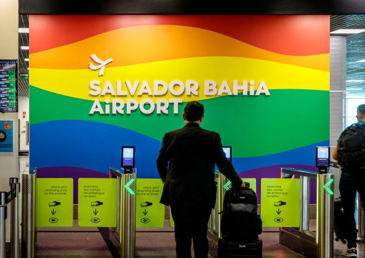 Pela diversidade, Aeroporto de Salvador se veste de arco-íris