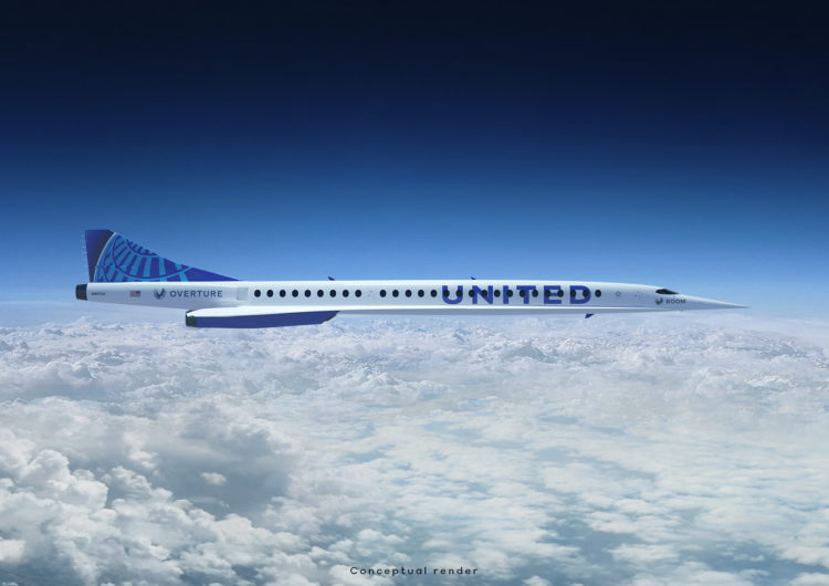 United anuncia acuerdo con Boom Supersonic para comprar aviones Overture