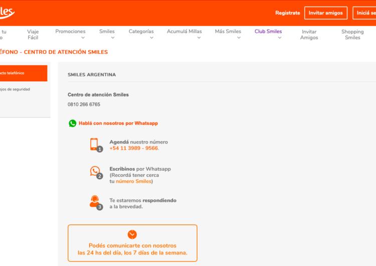 Smiles Argentina lanza su Centro de Atención al Cliente por WhatsApp