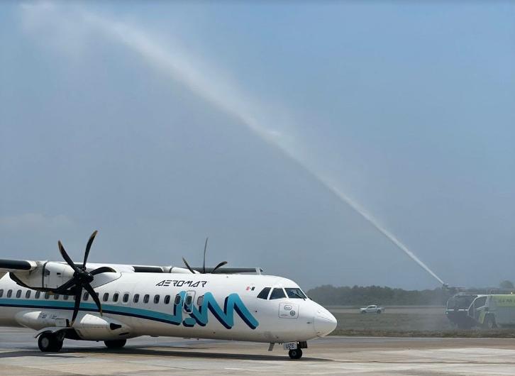 Con grandes expectativas inició la conexión aérea desde McAllen, Texas a Puerto Vallarta con Aeromar