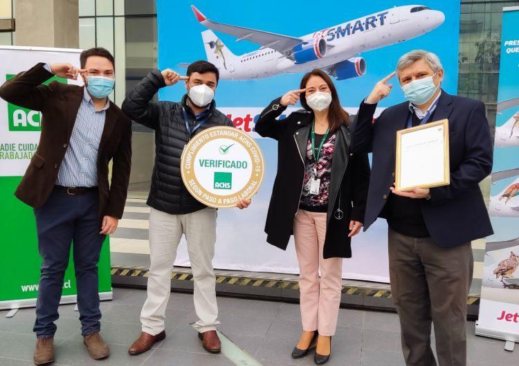 JetSMART recibe tercera certificación por la implementación de protocolos efectivos contra el Covid-19