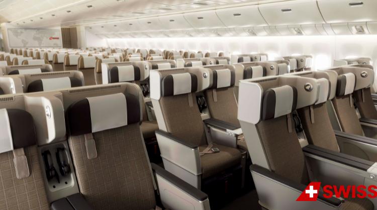 SWISS presentó su nueva Economy Premium para sus Boeing 777-300ER