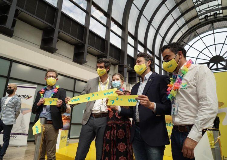 Viva inaugura el 'hub' de Medellín con su primer vuelo a Cancún