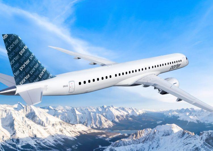 Porter Airlines encarga hasta 80 Embraer E195-E2