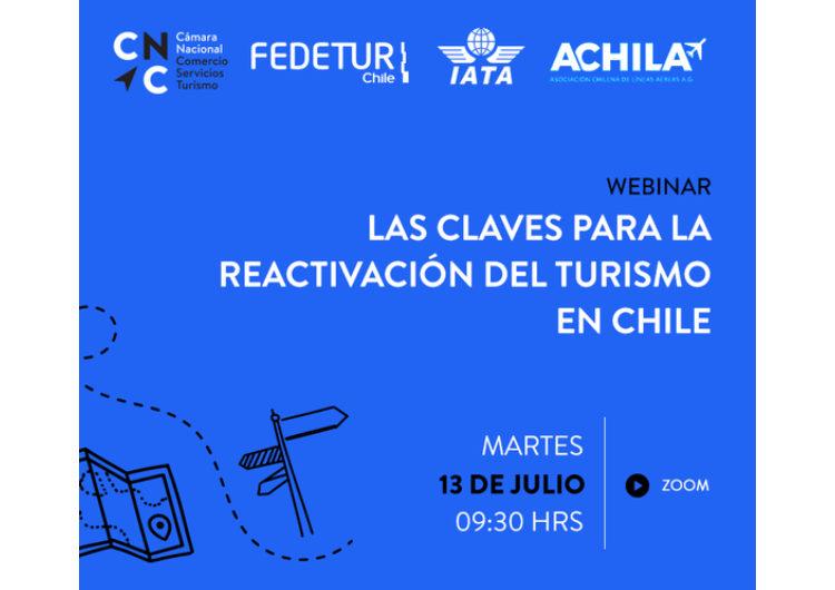 """Industria se reunirá en el webinar """"Las claves para la Reactivación del Turismo en Chile"""""""