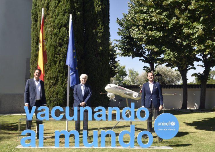 Iberia, con el apoyo de IAG Cargo, transportará vacunas y otros suministros humanitarios para apoyar la labor de UNICEF contra la pandemia por COVID-19