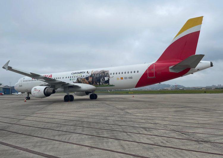 Iberia luce imágenes del Parque de Cabárceno en uno de sus Airbus A321