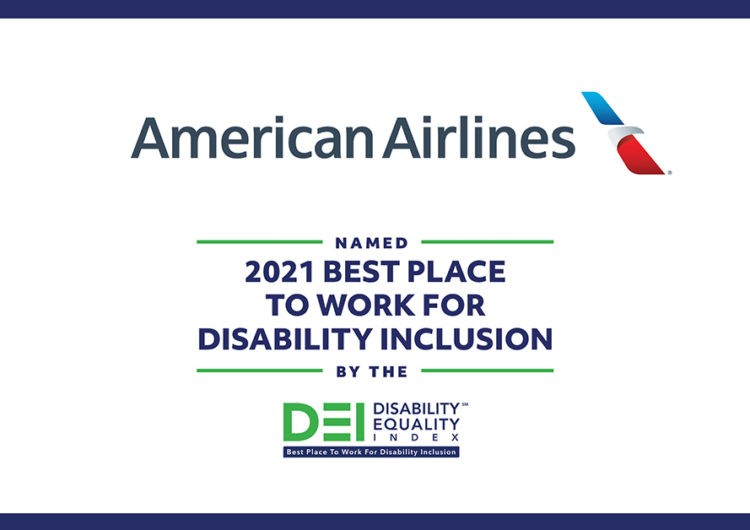 American Airlines Receives Top Score on the 2021 Disability Equality Index