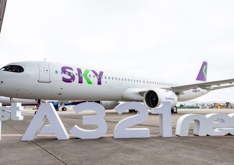 SKY recibe su primer A321neo