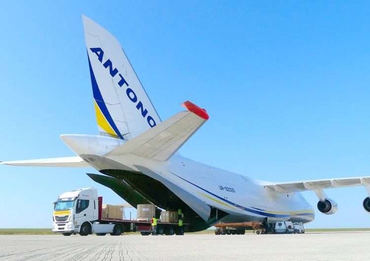 Antonov Airlines flies mining equipment from France to Argentina