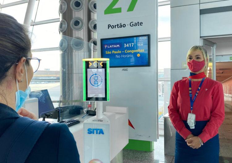 Aeroporto de Brasília testa embarque com reconhecimento facial