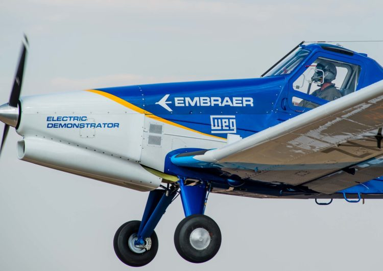 El avión demostrador eléctrico de Embraer comienza la campaña de pruebas de vuelo