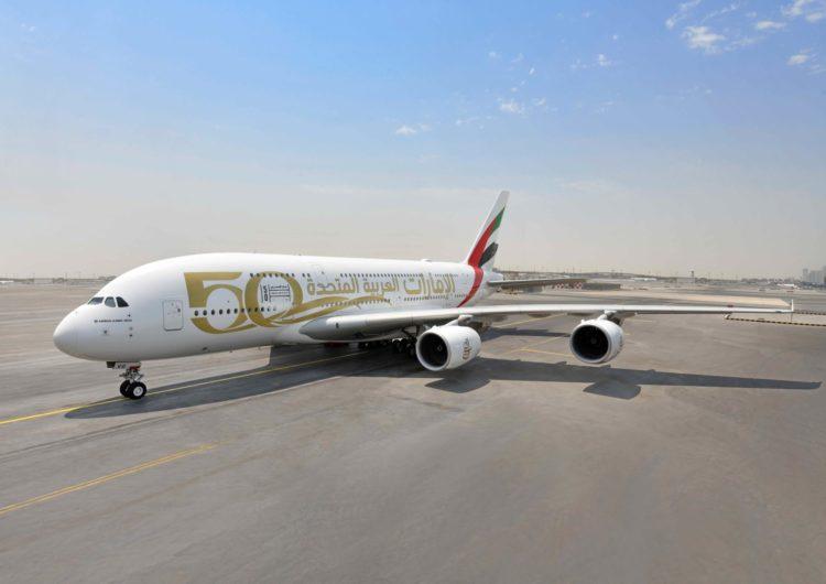 Emirates comienza la celebración de los 50 años de Emiratos Árabes