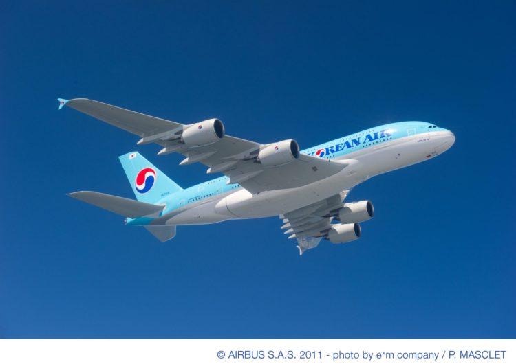 Korean Air sustituirá sus A380 y B747-8 por aviones más pequeños