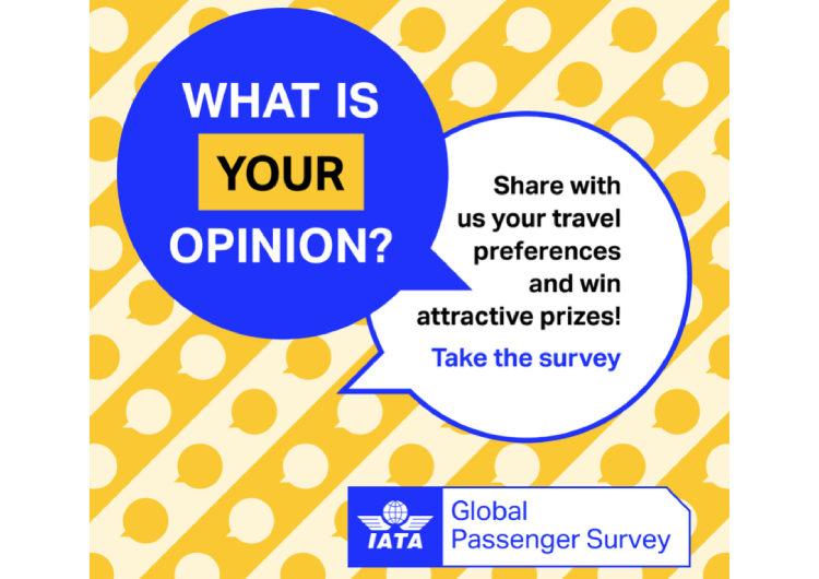 Cuéntanos tu experiencia en la Encuesta Global de Pasajeros de IATA