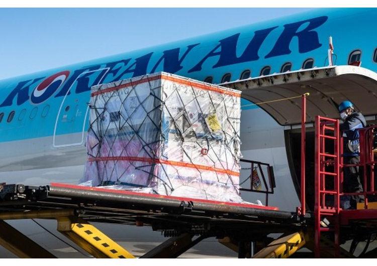 Korean Air opera al mes más de 800 vuelos de pasajeros solo de carga