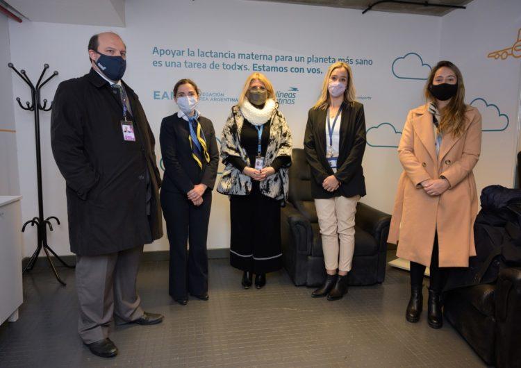 EANA y Aerolíneas Argentinas inauguraron un nuevo espacio de lactancia en el aeropuerto de Ezeiza
