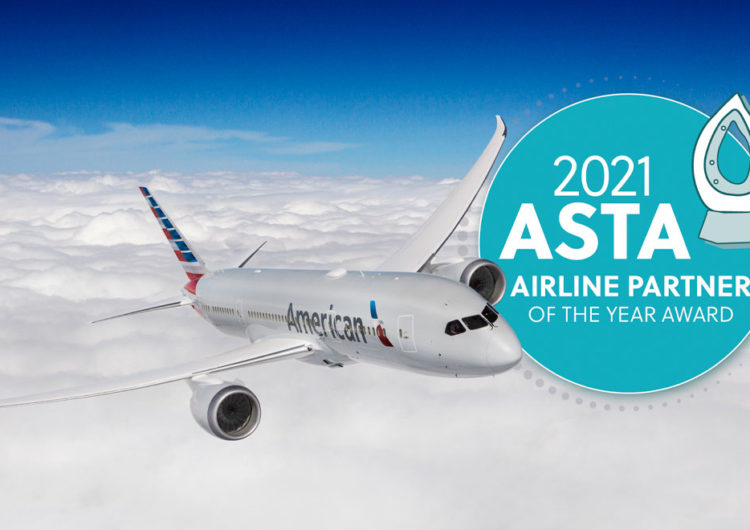 ASTA Recognizes American Airlines as Airline Partner of the Year for Third Consecutive Year