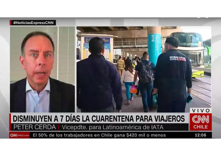 """""""Reducir el número de días de cuarentena en Chile de 10 a 7 es un pequeño paso de mejora, pero definitivamente no es la solución"""": Peter Cerdá, VP IATA para las Américas"""