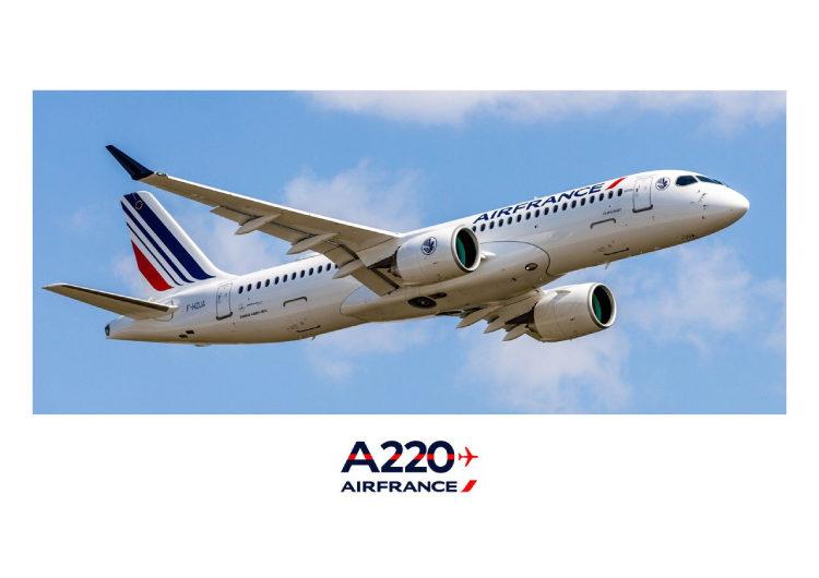 Air France incorpora en su flota el Airbus A220 para vuelos en Europa