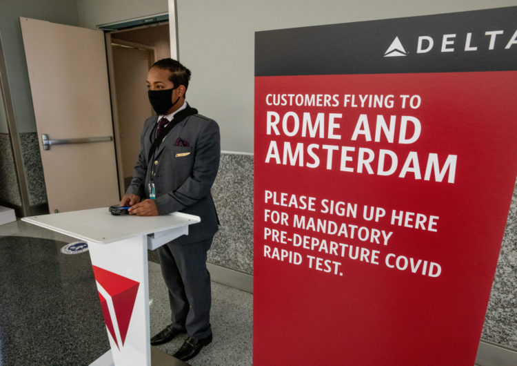 Unique published study: Delta's pre-flight testing significantly decreases rate of active COVID-19 infections on board
