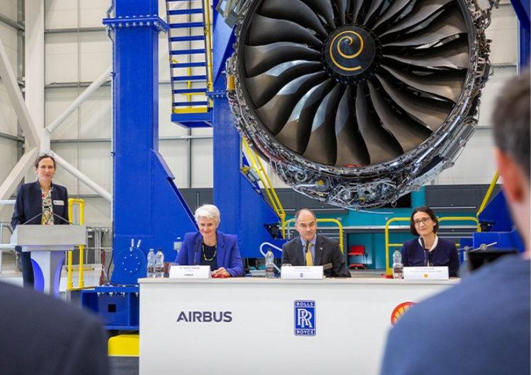 Airbus, Rolls-Royce y Shell buscan acelerar las emisiones cero en vuelos de largo recorrido